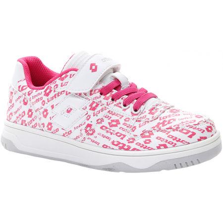 Lotto BASKETLOW AMF II LOGO CL SL - Pantofi de timp liber pentru fete