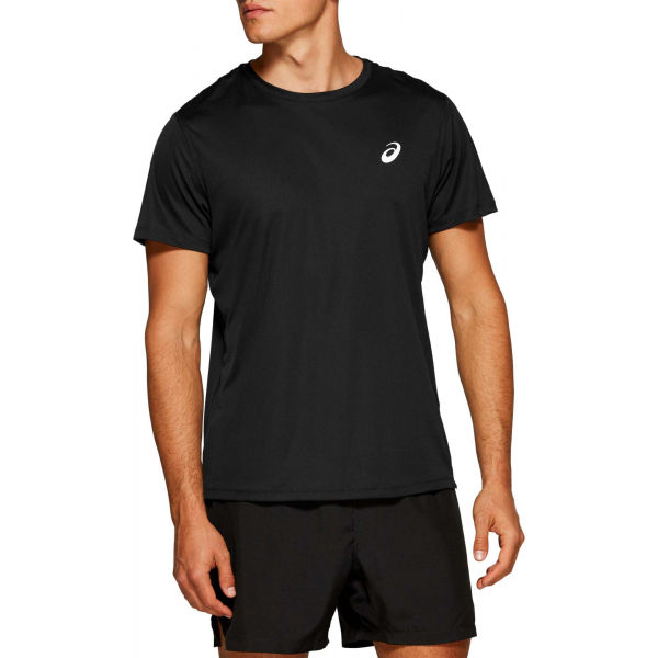 Asics SILVER SS TOP černá XL - Pánské běžecké triko