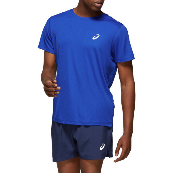 Asics SILVER SS TOP modrá S - Pánské běžecké triko