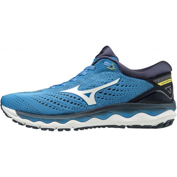 Mizuno WAVE SKY 3 niebieski 10 - Obuwie do biegania męskie