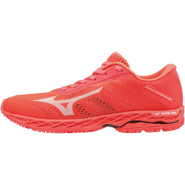Mizuno WAVE SHADOW 3 W czerwony 8 - Obuwie do biegania damskie