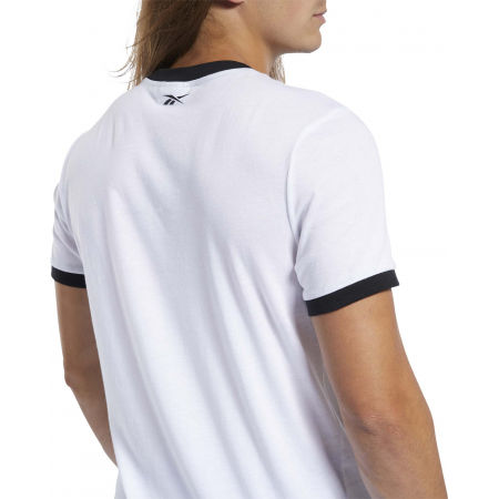 Men's T-shirt - Reebok TE LINEAR LOGO COLOR BLOCKED SS TEE - 8