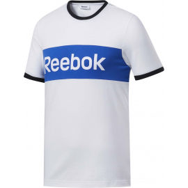 Reebok TE LINEAR LOGO COLOR BLOCKED SS TEE - Pánske tričko