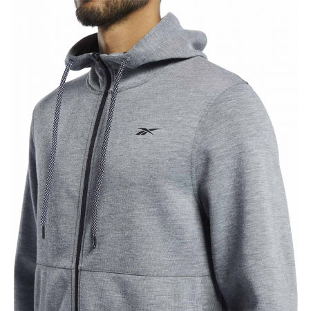 Bluza męska - Reebok WORKOUT READY DOUBLE KNIT FZ HOODIE - 6