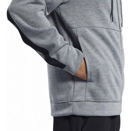 Bluza męska - Reebok WORKOUT READY DOUBLE KNIT FZ HOODIE - 7