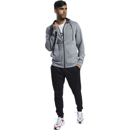 Bluza męska - Reebok WORKOUT READY DOUBLE KNIT FZ HOODIE - 4