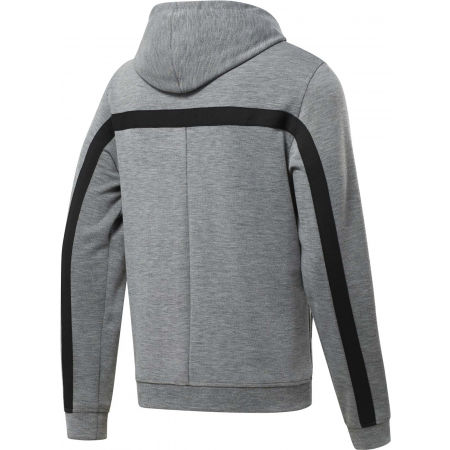 Bluza męska - Reebok WORKOUT READY DOUBLE KNIT FZ HOODIE - 2