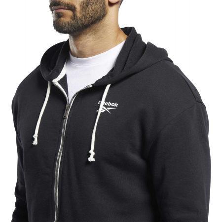 Men's sweatshirt - Reebok TE FT FZ HOODIE - 4