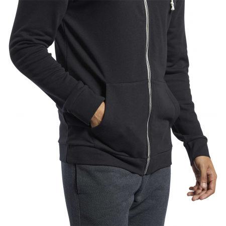 Men's sweatshirt - Reebok TE FT FZ HOODIE - 5