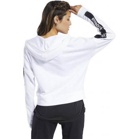 Női pulóver - Reebok TE LINEAR LOGO FULLZIP - 4