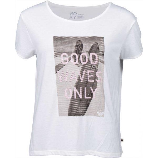 Roxy TALK ABOUT IT biela XS - Dámske tričko