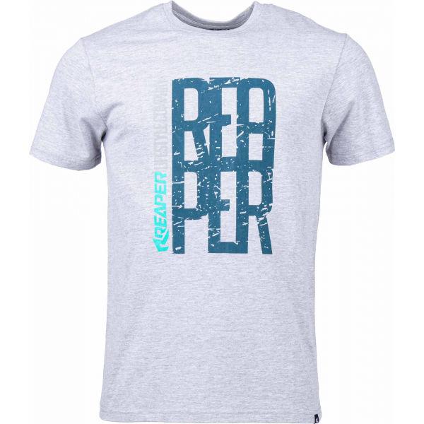 Reaper FONT szürke M - Férfi póló