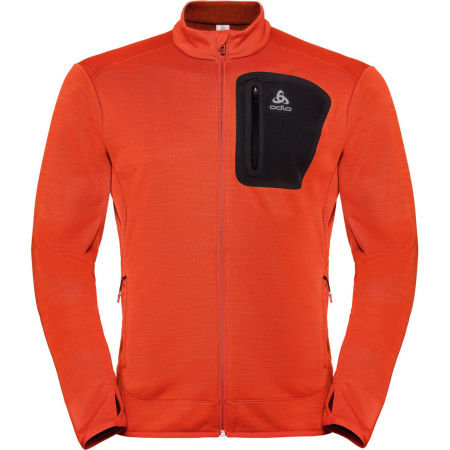 Odlo MIDLAYER FULL ZIP BLAZE CERAMIWARM PRO - Men's sweatshirt