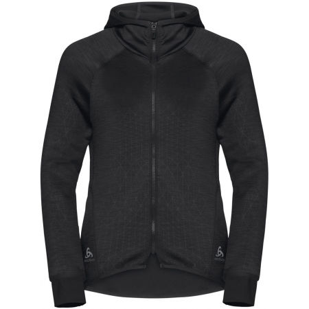 Odlo HOODY MIDLAYER FULL ZIP LOU - Дамски суитшърт