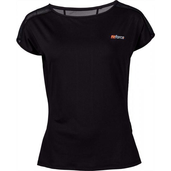 Fitforce CLAVI čierna M - Dámske fitness tričko