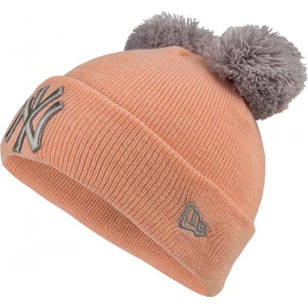 New Era MLB DOUBLE POM KNIT CUFF KIDS NEW YORK YANKEES - Dievčenská zimná čiapka
