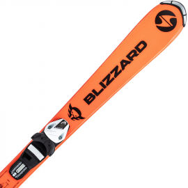 Blizzard FIREBIRD JUNIOR ORANGE + TYROLIA SLR 4.5 WHITE/BLACK - Kids' downhill skis