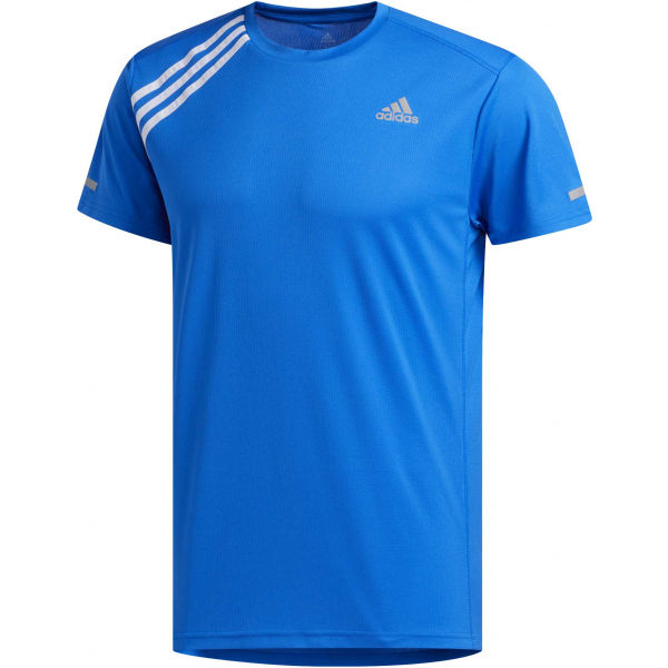 adidas OWN THE RUN TEE modrá M - Pánske bežecké tričko