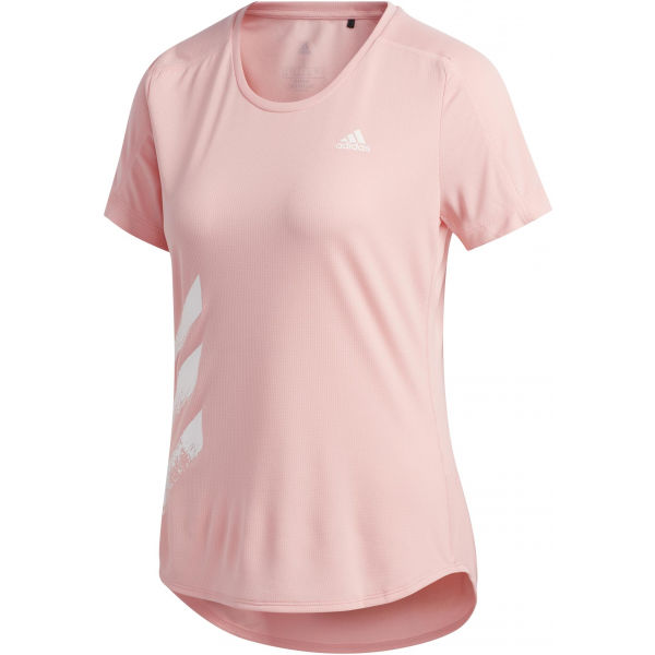 adidas RUN IT TEE 3S W ružová XS - Dámske športové tričko