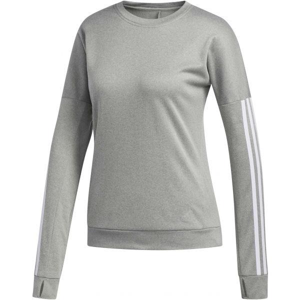 adidas RESPONSE CREW W šedá XS - Dámské triko s dlouhým rukávem