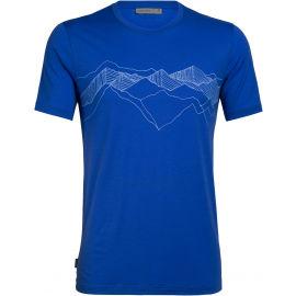 Icebreaker TECH LITE SS CREWE PEAK PATTERNS - Pánské funkční tričko