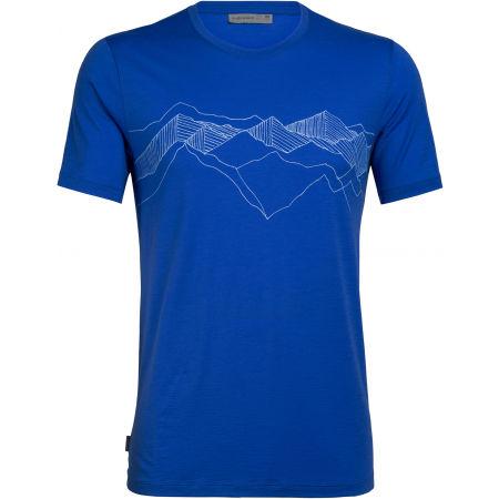 Icebreaker TECH LITE SS CREWE PEAK PATTERNS - Pánske funkčné tričko