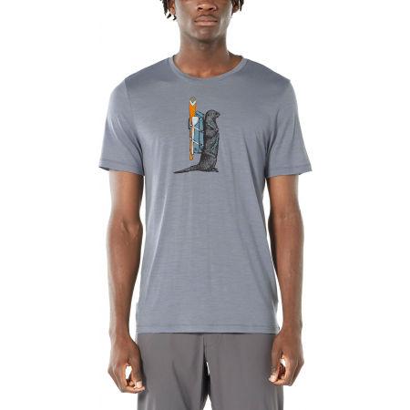 Pánske funkčné tričko - Icebreaker TECH LITE SS CREWE OTTER PADDLE - 2