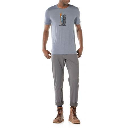 Pánske funkčné tričko - Icebreaker TECH LITE SS CREWE OTTER PADDLE - 7
