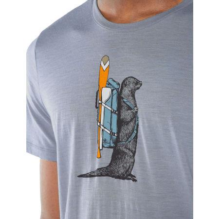 Pánske funkčné tričko - Icebreaker TECH LITE SS CREWE OTTER PADDLE - 5