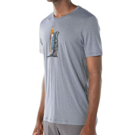 Pánske funkčné tričko - Icebreaker TECH LITE SS CREWE OTTER PADDLE - 3