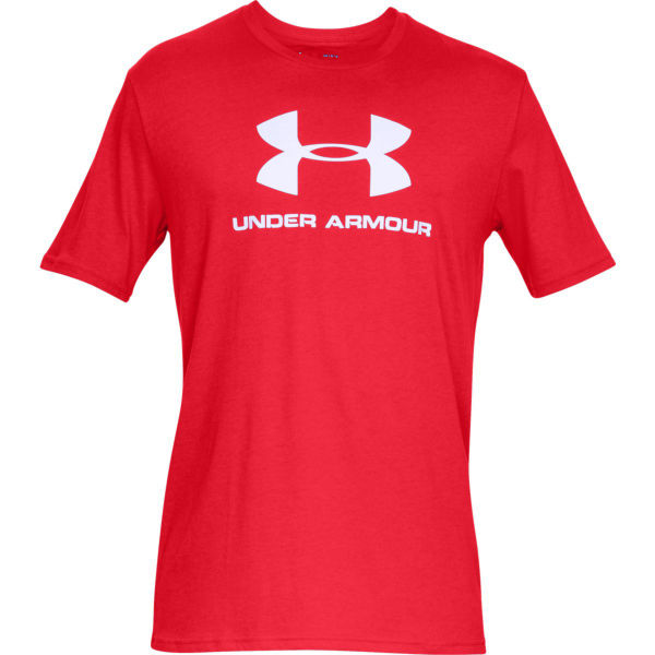 Under Armour SPORTSTYLE LOGO SS červená XL - Pánské triko
