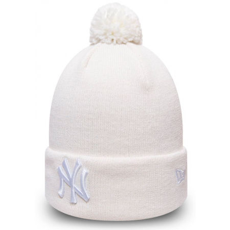 New Era WMN ESSENTIAL BOBBLE KNIT NEW YORK YANKEES - Дамска зимна шапка