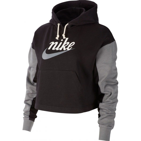 Nike NSW VRSTY HOODIE FT W černá M - Dámská mikina