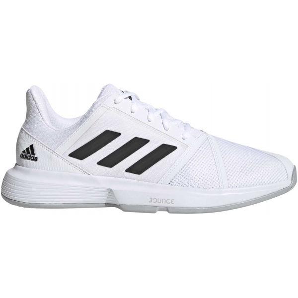 adidas COURTJAM BOUNCE bílá 9.5 - Pánská tenisová obuv
