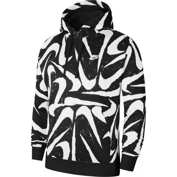 Nike NSW CLUB HOODIE PO BB AOP 2 černá XL - Pánská mikina