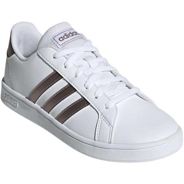 adidas GRAND COURT K biela 32 - Detská obuv