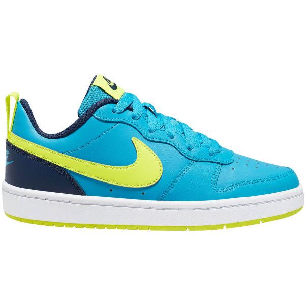 Nike COURT BOROUGH LOW 2 GS modrá 6Y - Detská voľnočasová obuv