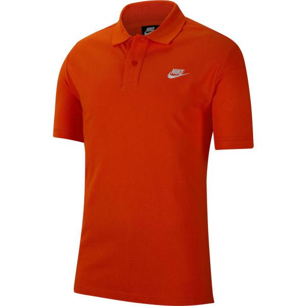 Nike NSW CE POLO MATCHUP PQ M oranžová S - Pánské polotričko