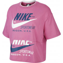 Nike NSW ICN CLSH SS TOP W - Damen Shirt
