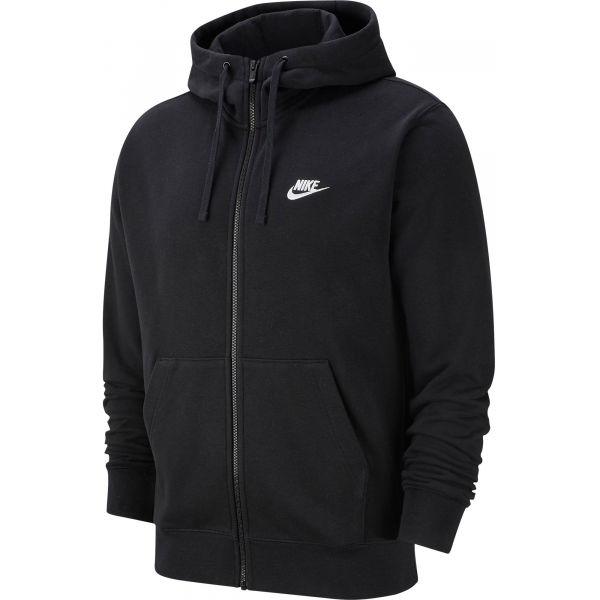Nike NSW CLUB HOODIE FZ FT M černá M - Pánská mikina