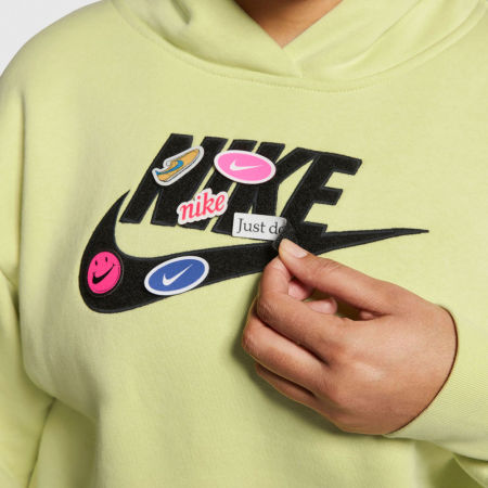 Women's sweatshirt - Nike NSW ICN CLSH FLC HOODIE PLUS W - 6
