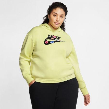 Women's sweatshirt - Nike NSW ICN CLSH FLC HOODIE PLUS W - 3