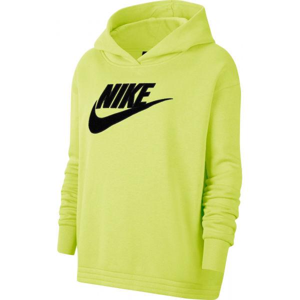 Nike NSW ICN CLSH FLC HOODIE PLUS W - Dámska mikina