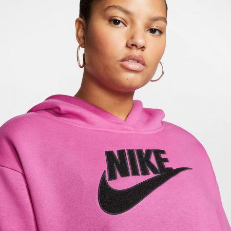 Women's plus size sweatshirt - Nike NSW ICN CLSH FLC HOODIE PLUS W - 5