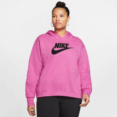 Women's plus size sweatshirt - Nike NSW ICN CLSH FLC HOODIE PLUS W - 3