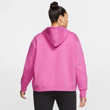 Women's plus size sweatshirt - Nike NSW ICN CLSH FLC HOODIE PLUS W - 4