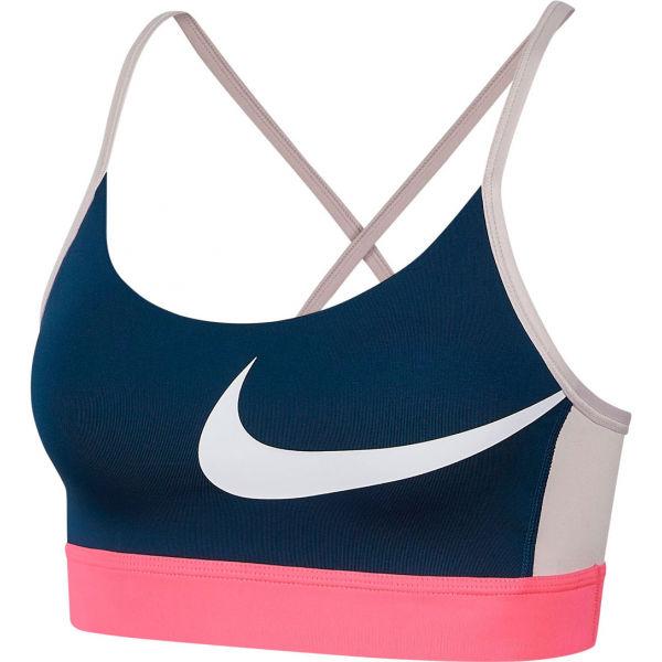 Nike ICNCLSH BRA LIGHT tmavo modrá L - Dámska športová podprsenka