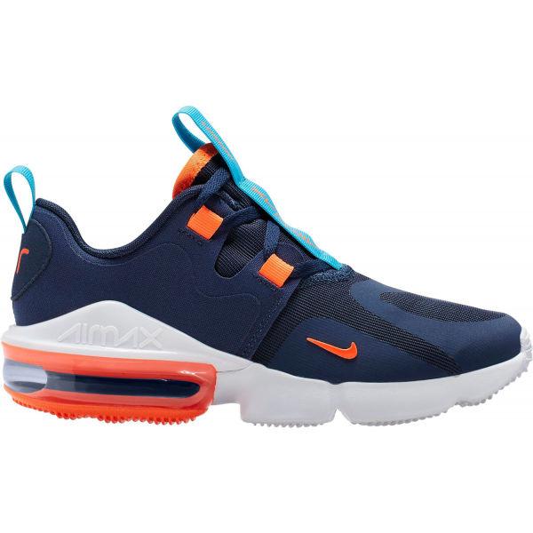 Nike AIR MAX INFINITY tmavě modrá 6.5Y - Dětská volnočasová obuv