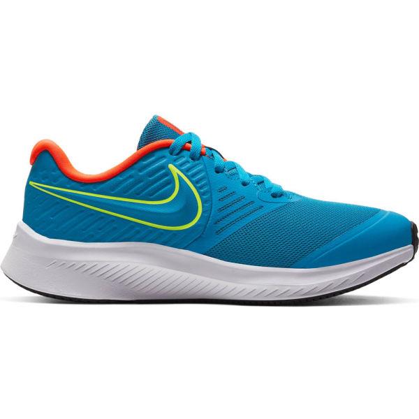 Nike STAR RUNNER 2 GS modrá 7Y - Dětská běžecká obuv