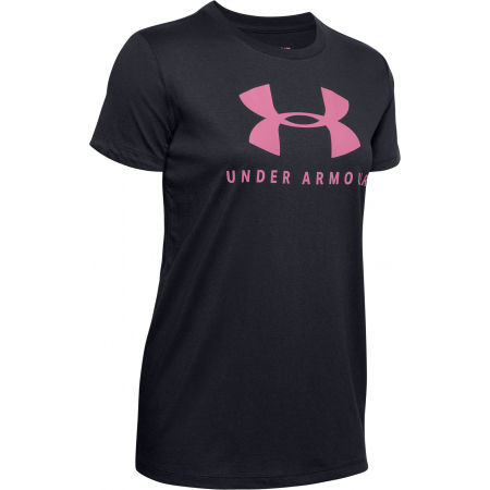 Women's T-shirt - Under Armour GRAPHIC SPORTSTYLE CLASSIC CREW-BLK - 1